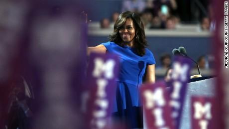Michelle Obama en Convención Nacional Republicana y Democrata